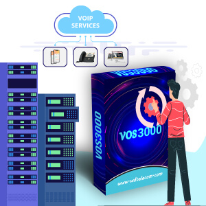 Infographic of VOS3000 Hosted SoftSwitch