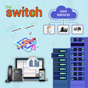 Infographic of iTel Switch Plus Hosted SoftSwitch